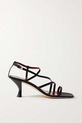 STAUD Gita Satin Sandals - Black