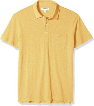Goodthreads Amazon Brand Men's Short-Sleeve Lightweight Slub Polo Shirt