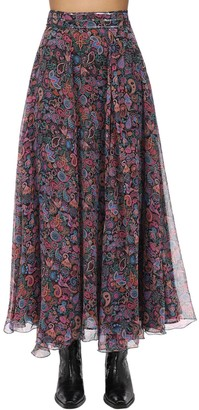 Zadig & Voltaire Zadig&Voltaire Printed Muslin Maxi Skirt