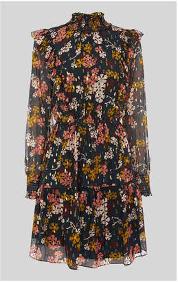 Whistles Clover Floral Silk Mix Dress
