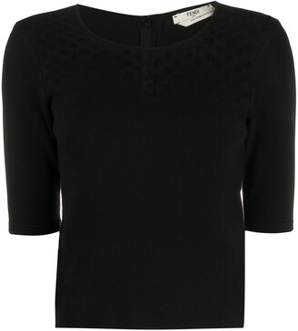 Fendi Pre-Owned 1990s Cut-Out Knitted Top