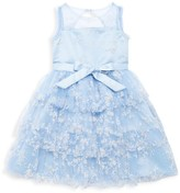Marchesa Mini Little Girl's Valencia Floral Bow Tiered Dress