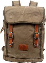 Tsd TSD Women's Handbags Olive - Olive Forest Leather-Trim Backpack