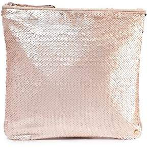 Halston Sequined Satin Pouch