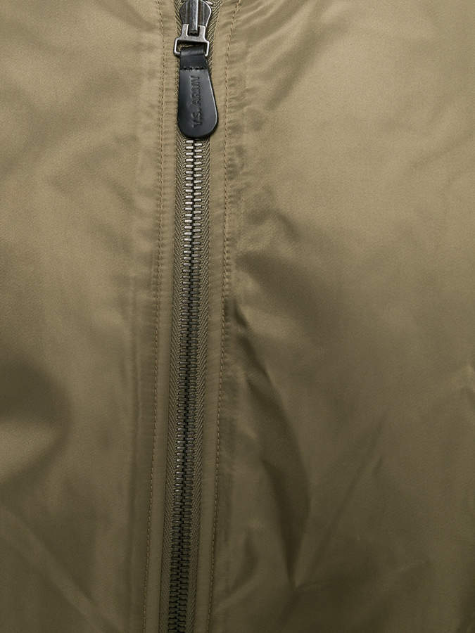 Yves Salomon zipped bomber jacket