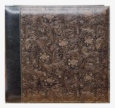 Pioneer Photo Albums 12 x 12-Inch Postbound Embossed Sewn Leatherette Cover Memory Book