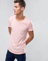 Jack and Jones Longline Curved Hem Stripe T-Shirts