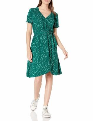 Goodthreads Amazon Brand Women's Fluid Twill Wrap Dress
