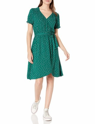 Goodthreads Fluid Twill Wrap Dress