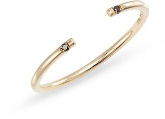 Jennie Kwon Designs Black Diamond Open Band Ring