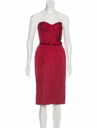 Peter Soronen Silk Mini Dress w/ Tags Red