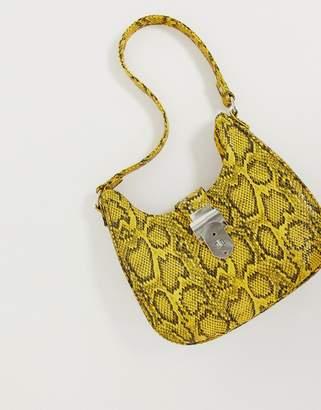 Asos Design DESIGN 90s snake bag with western detail