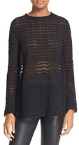 M Missoni Women's Sheer Zigzag Pullover