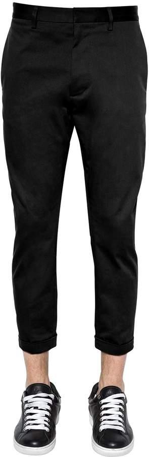 DSQUARED2 16cm Hockney Stretch Twill Chino Pants