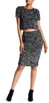Haute Hippie Mosaic Sequin Pencil Skirt