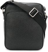Giorgio Armani embossed logo messenger bag