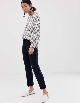 Emme skinny suit trousers-Navy