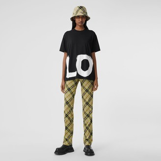 Burberry Love Print Cotton Oversized T-shirt