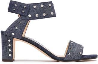 Jimmy Choo Veto 65 Studded Denim Sandals
