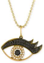 Sydney Evan Jewelry 14K Gold Eyelash Eye Pendant Necklace with Diamonds