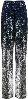 Alice + Olivia Elba sequinned wide-leg trousers