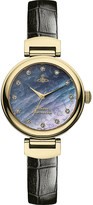 Vivienne Westwood VV128GDBK leather and mother-of-pearl Hampton watch