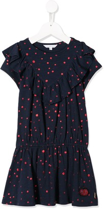 Little Marc Jacobs Polka-Dot Frill Dress