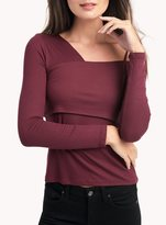 Ella Moss Long Sleeve One Shoulder Top