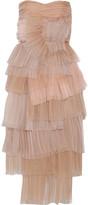 Burberry Tiered silk-organza dress