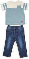 7 For All Mankind Boys' Color-Block Pocket Tee & Jeans Set