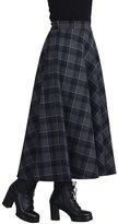 Femirah Women's Autumn Winter Long Maxi Woolen Skirt