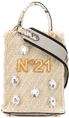 No.21 Crystal Embellished Tote