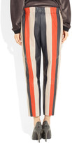 Les Chiffoniers Striped leather pants