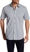 James Campbell Pampa Short Sleeve Print Regular Fit Woven Shirt