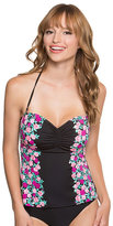 Betsey Johnson Ballerina Rose Molded Bra Tankini Top