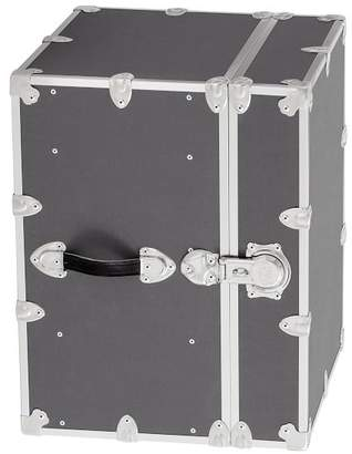 Pottery Barn Teen Canvas Dorm Trunk with Silver Trim, Bedside, Charcoal