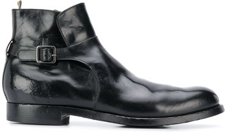 Officine Creative Buckled Ankle Boots