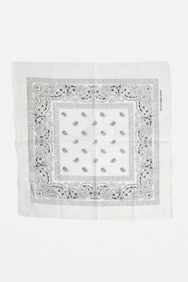 Urban Outfitters Paisley Bandana Scarf - White ALL at