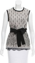 Yigal Azrouel Sleeveless Embroidered Top w/ Tags