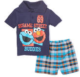 Children's Apparel Network Sesame Street Navy 'Buddies' Polo & Shorts - Infant