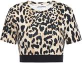 Paco Rabanne Cropped Leopard-print Stretch-jersey Top