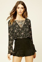 Forever 21 FOREVER 21+ Contemporary Lace-Up Top