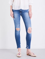 True Religion Ladies Distressed Concealed Zip Halle Super Skinny Mid-Rise Jeans