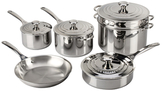 Le Creuset Stainless Steel Cookware Set (10 PC)