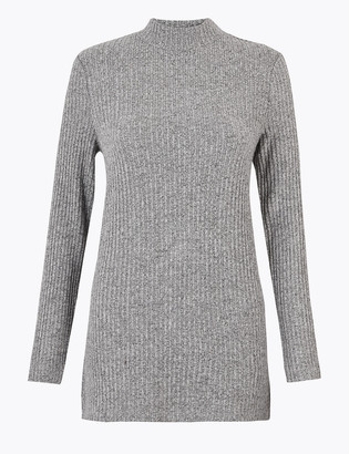 Marks and Spencer Soft Touch Ribbed Textured Longline Top