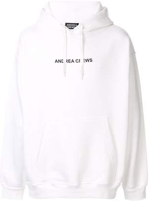 Andrea Crews logo drawstring hoodie
