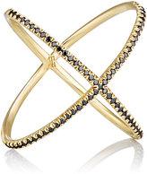 Eva Fehren Women's Black Diamond & Yellow Gold 'X' Ring