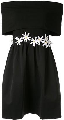 Paule Ka Floral Off-Shoulder Dress
