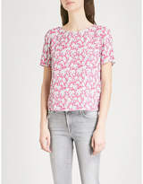 Claudie Pierlot Ball printed crepe top