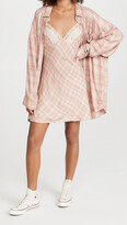 Thumbnail for your product : Free People Gracie Plaid Slip and Button Down Set